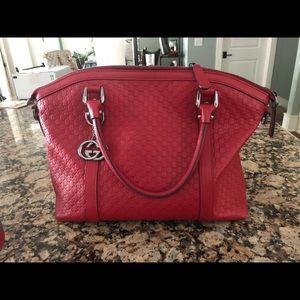 Gucci Guccissima Red Handbag